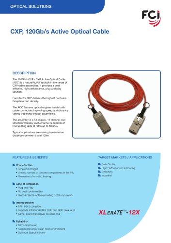 CXP 120Gb/s Active Optical Cable