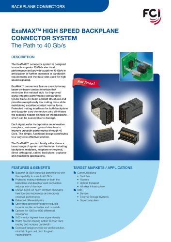 ExaMAX High Speed Backplane Connector System