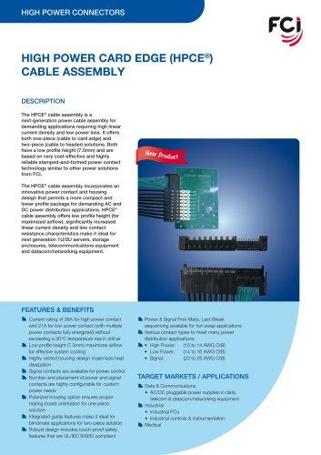 High Power Card Edge (HPCE®) Cable Assdembly