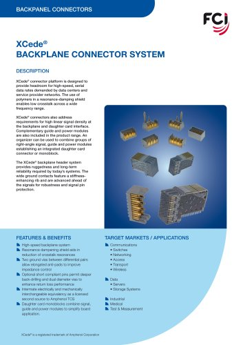 XCede Backplane Connector System