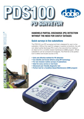 PDS100 - Partial Discharge Surveyor - Doble Engineering Company