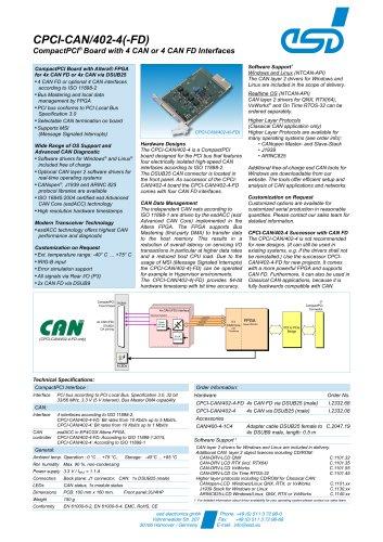 CPCI-CAN/402-4(-FD)