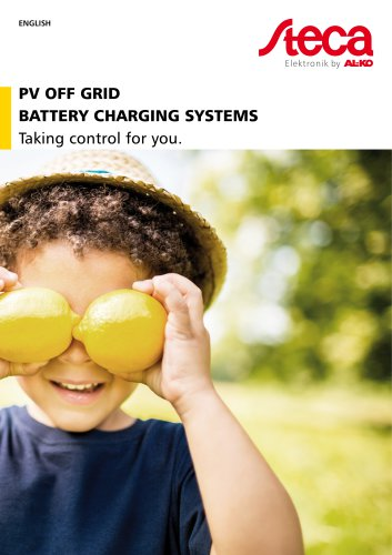 Catalog PV off grid battery charging systems