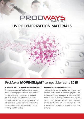 UV POLYMERIZATION MATERIALS