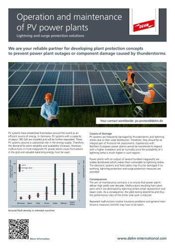 Operation and maintenance of PV power plants