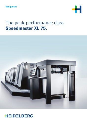 The peak performance class. Speedmaster XL 75.