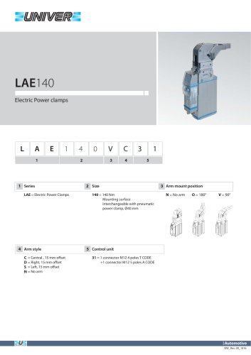 LAE140 Electric power clamps