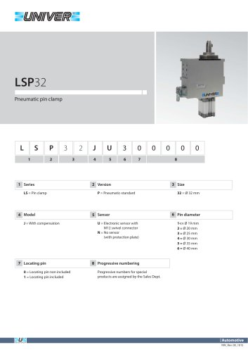 LSP32_Pneumatic pin clamp
