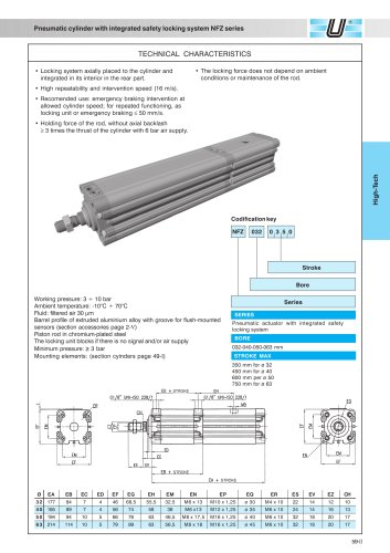 NFZ_Pneumatic cylinder with integrated safety locking system