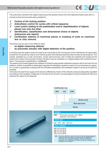 NQZ_Pneumatic cylinder with digital measuring detector