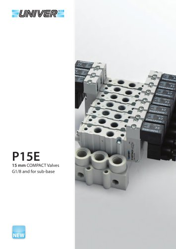 P15E 15 mm COMPACT Valves G1/8 and for sub-base