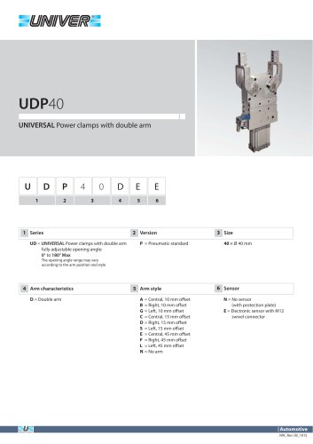 UDP40_UNIVERSAL Power clamps with double arm