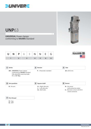 UNP63_UNIVERSAL Power clamps conforming to NAAMS Standard