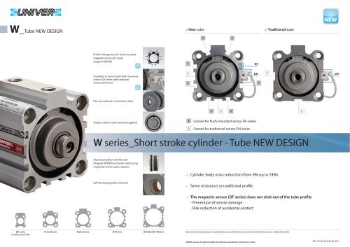 W_Short stroke cylinder- Tube NEW DESIGN