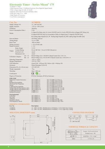 electronic timer - Micron® 175 series