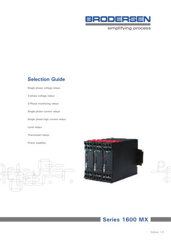 MX Monitoring & Control Relay Selection Guide