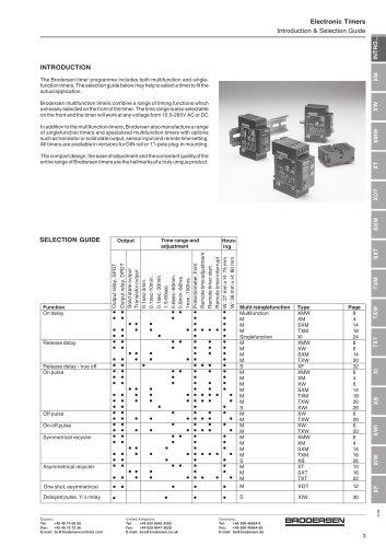 X Timer data Sheet