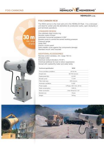 Dust control fog cannon HE30