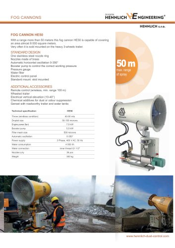 Dust control fog cannon HE50