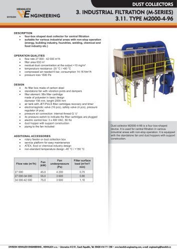 INDUSTRIAL FILTRATION (M-SERIES)
