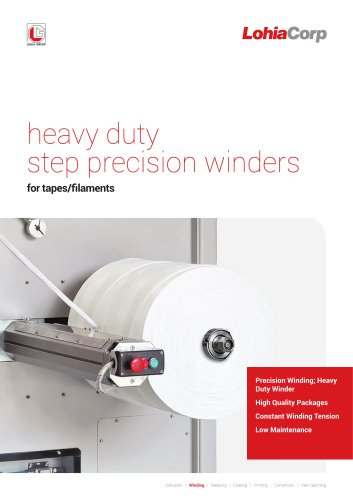 Heavy duty step precision winder