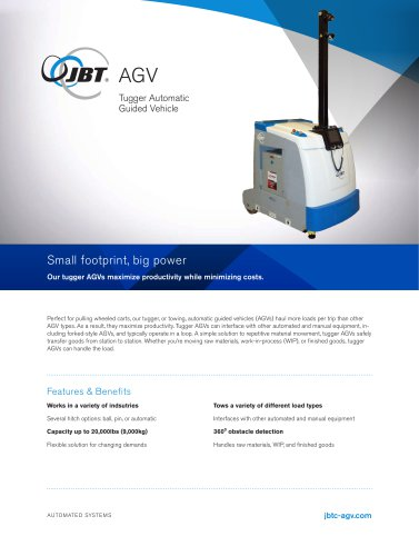 AGV Tugger Automatic Guided Vehicle
