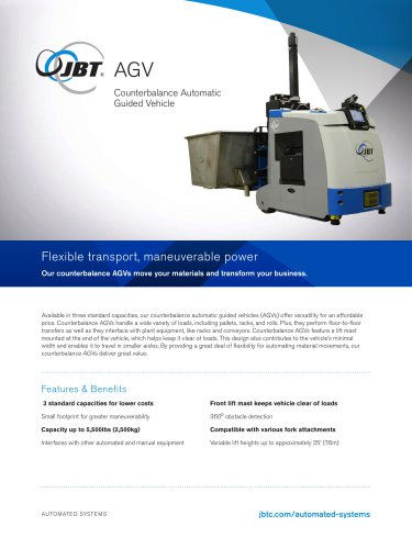 Counterbalance Automatic Guided Vehicle - CB series