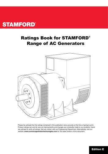 Ratings Book for STAMFORD ® Range of AC Generators