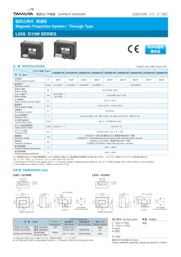 Magnetic Proportion System/ Through type L03S D15W series