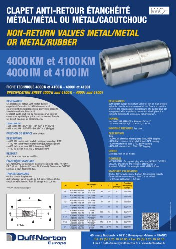 4000M & 4100M Series