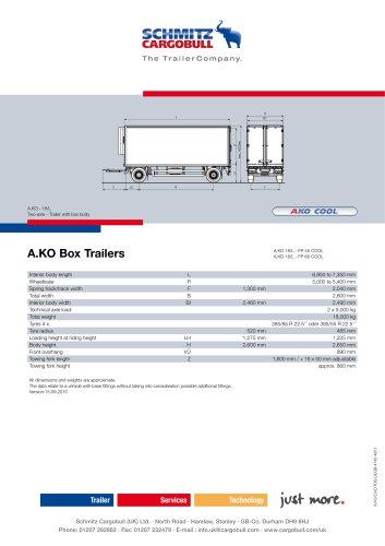 AKO Box trailer