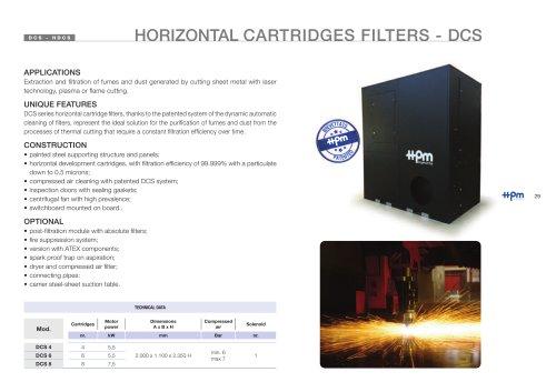 Horizontal cartirdges filter DCS