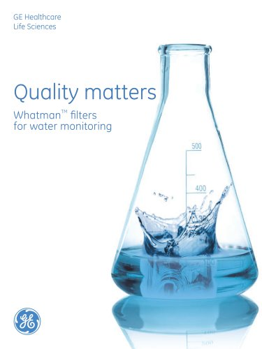 Whatman filters for water monitoring