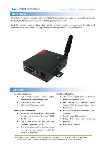 WL-M100 Series RS232 Modem