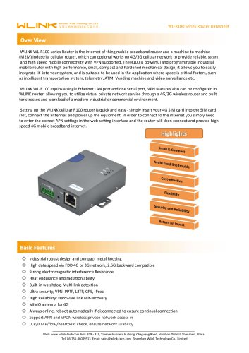 WL-R100 Series Industrial Router
