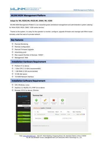 WLINK M2M Cloud Management Platform