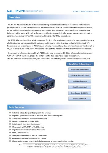 WLINK R200 Industrial LTE Router