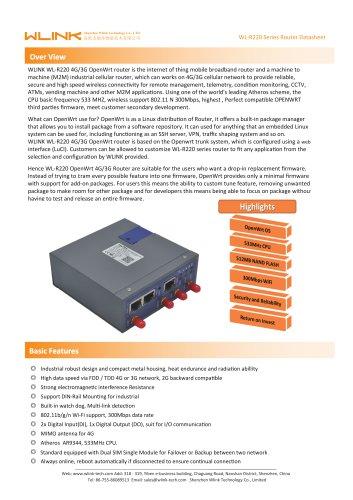 WLINK WL-R220 4G/3G