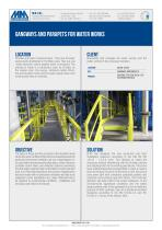 GANGWAYS AND PARAPETS FOR WATER WORKS