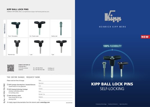 KIPP Ball lock pins