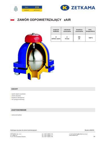 Air release valve zAIR Fig.918