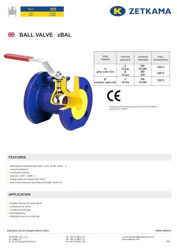Ball valve zBAL Fig.565