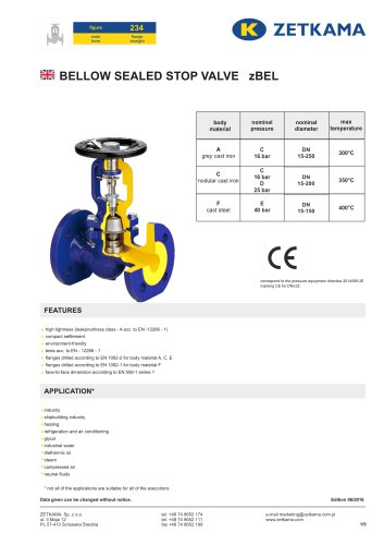 Bellow valve zBEL Fig.234