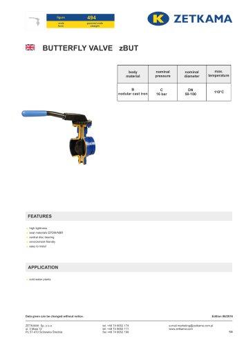 Butterfly valve zBUT Fig.494