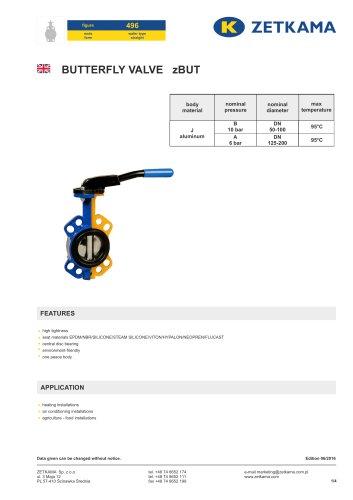 Butterfly valve zBUT Fig.496