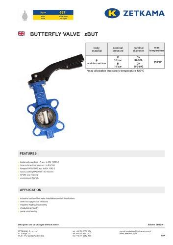 Butterfly valve zBUT Fig.497