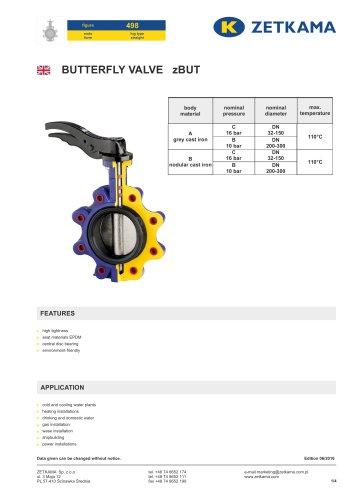 Butterfly valve zBUT Fig.498