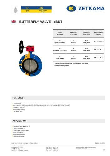 Butterfly valve zBUT Fig.499