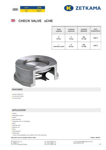 Check valve zCHE Fig.275
