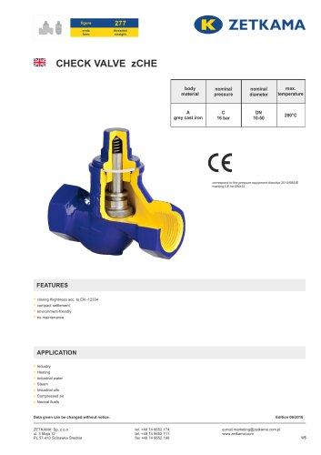 Check valve zCHE Fig.277